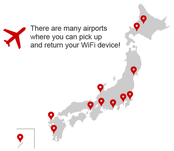 Pickup / Returns Airport Counters | NINJA WiFi - Pocket WiFi Router